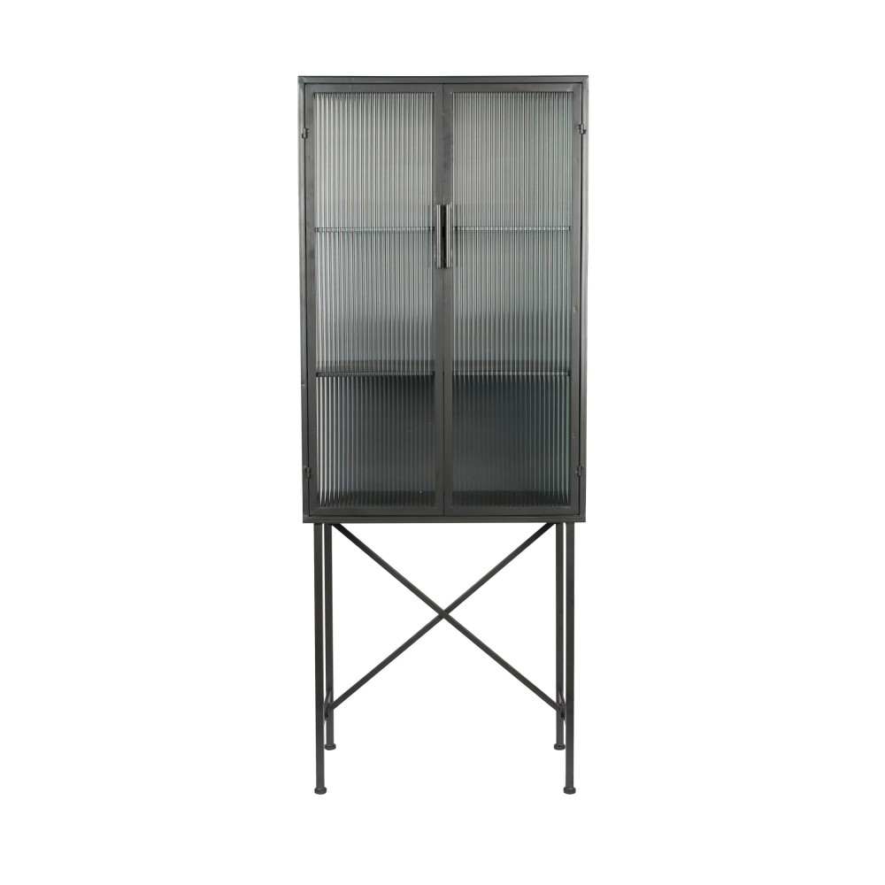 Vitrine 2 portes en verre noir