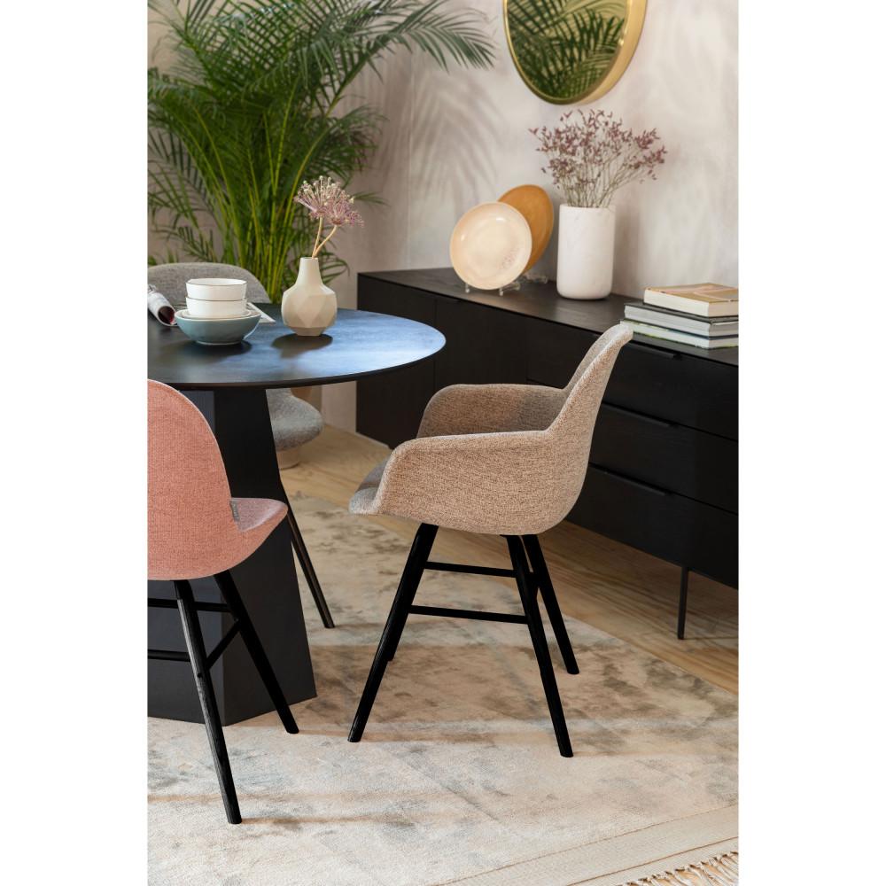 2 chaises en bois et tissu vieux rose