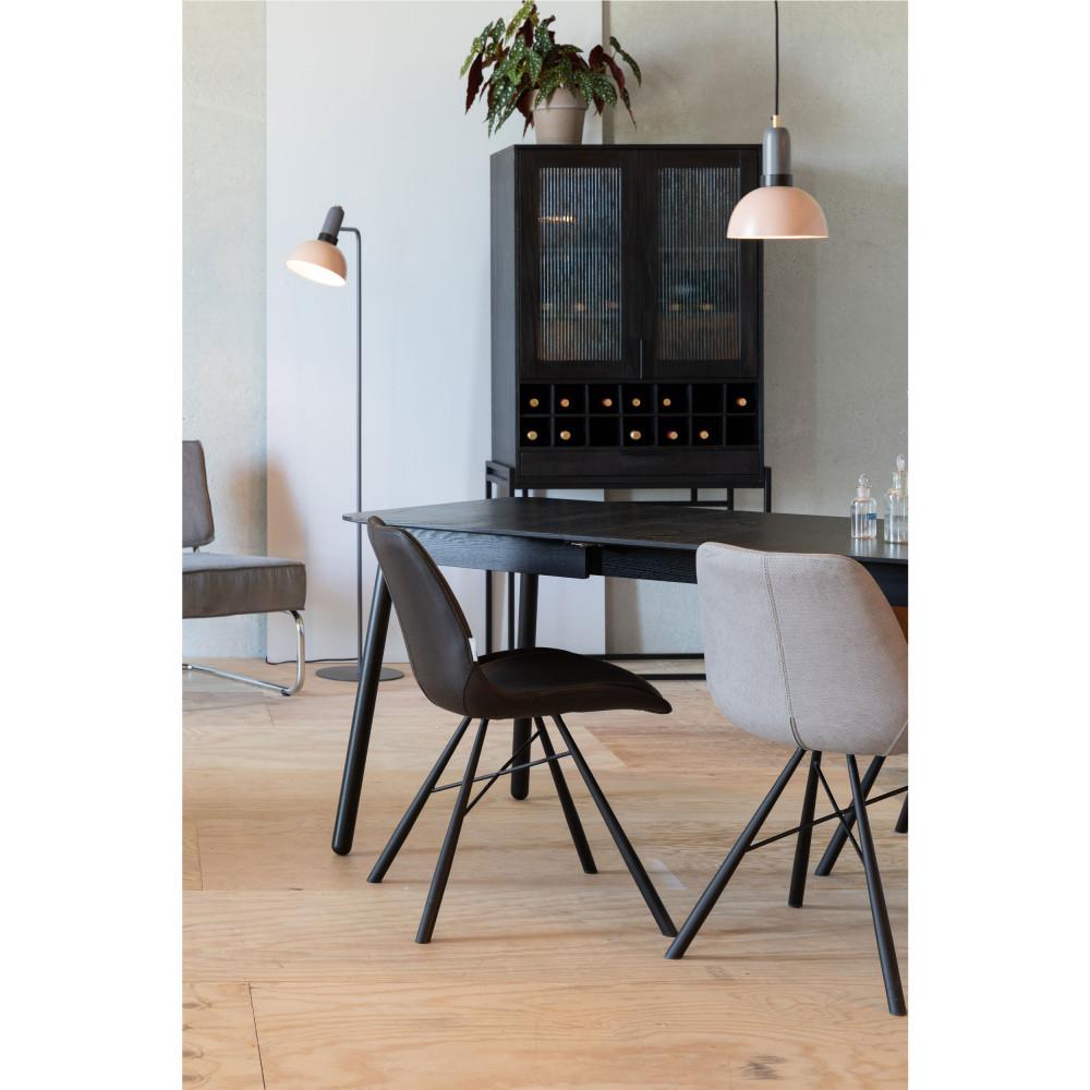 2 chaises en simili micro-perforé noir