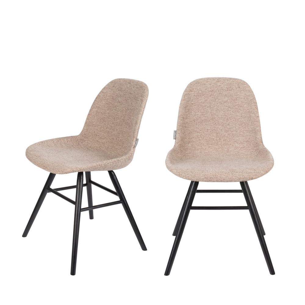 maison du monde 2 chaises en bois et tissu beige