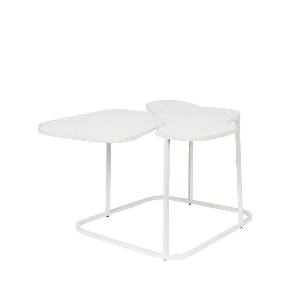 Table basse en métal blanc
