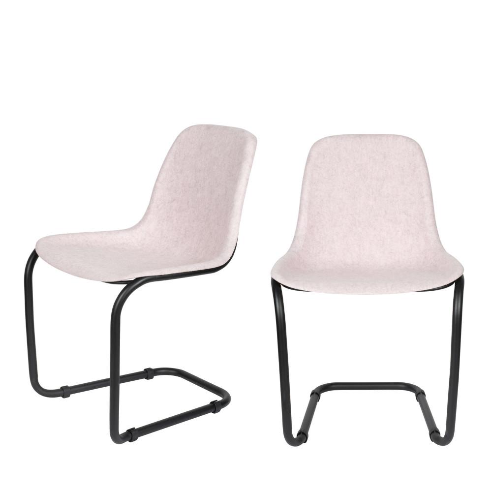 maison du monde 2 chaises en plastique rose pastel