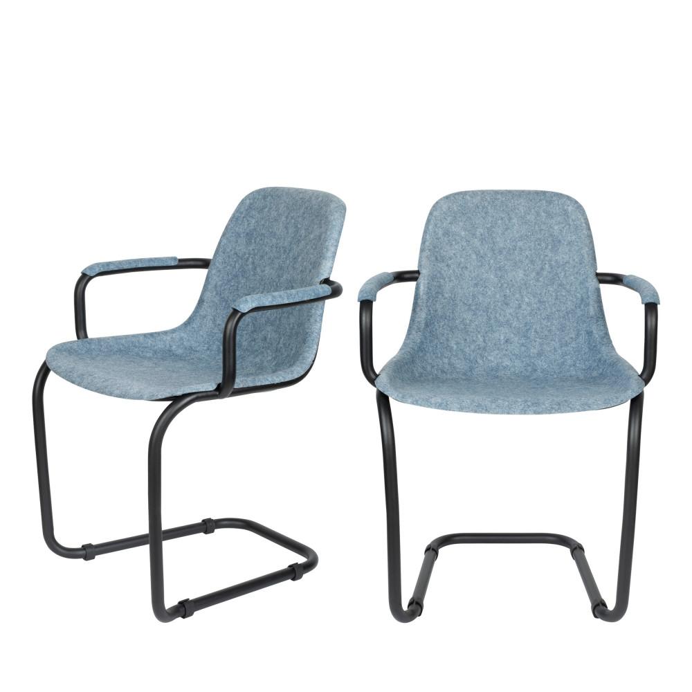 maison du monde 2 chaises avec accoudoirs en plastique bleu clair