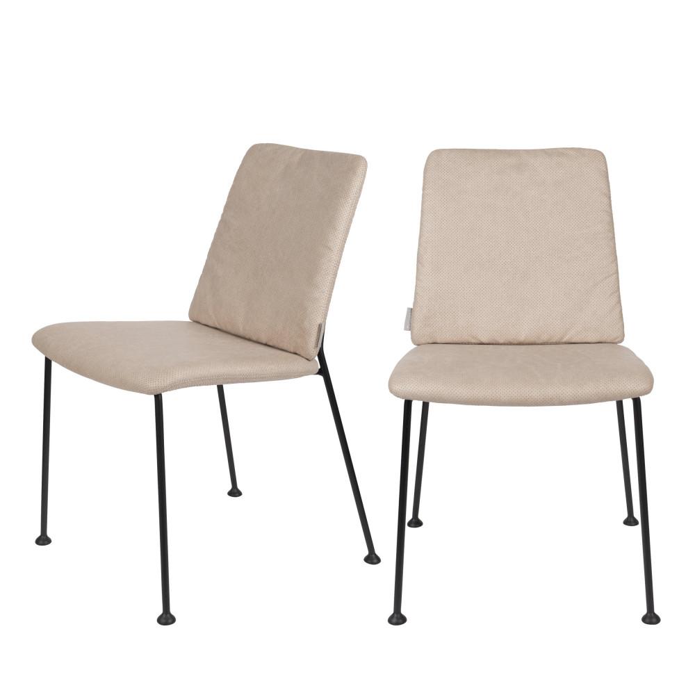 maison du monde 2 chaises en tissu beige
