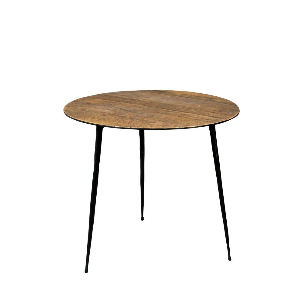 Table d'appoint D45cm marron