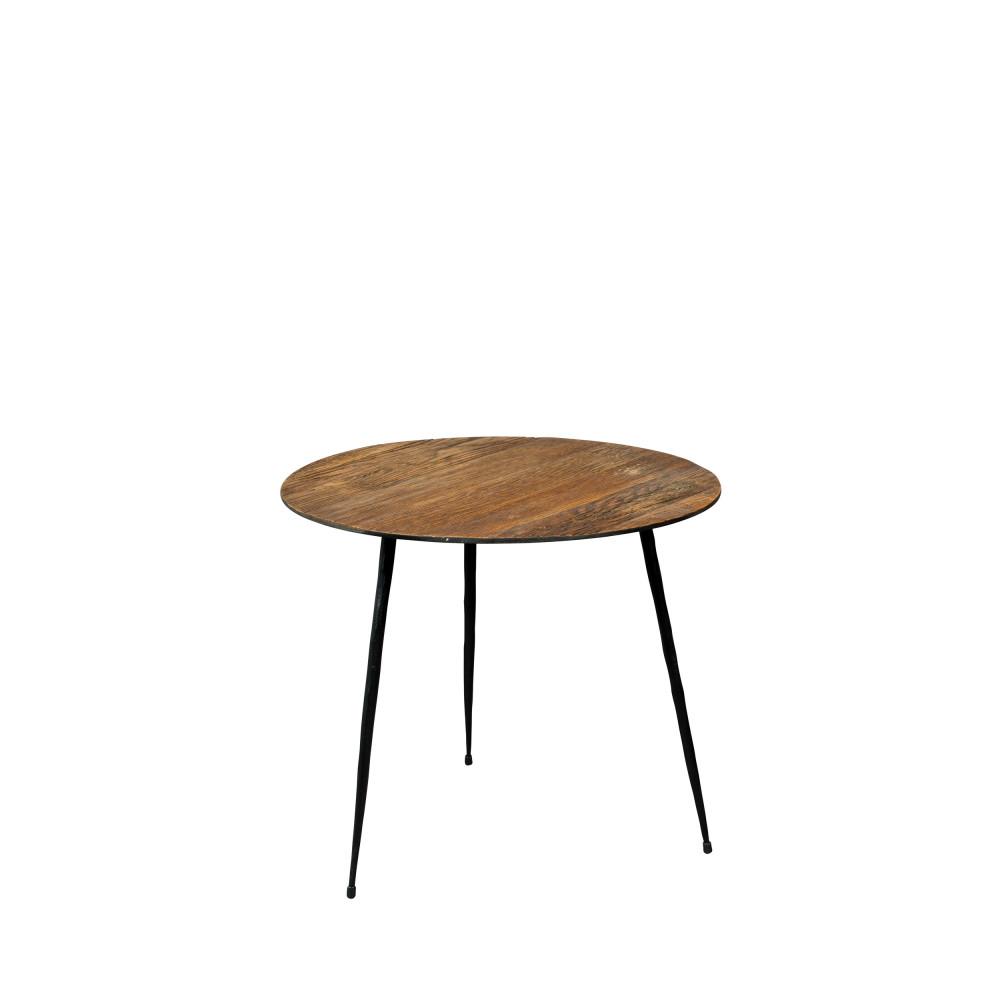 Table d'appoint D40cm marron