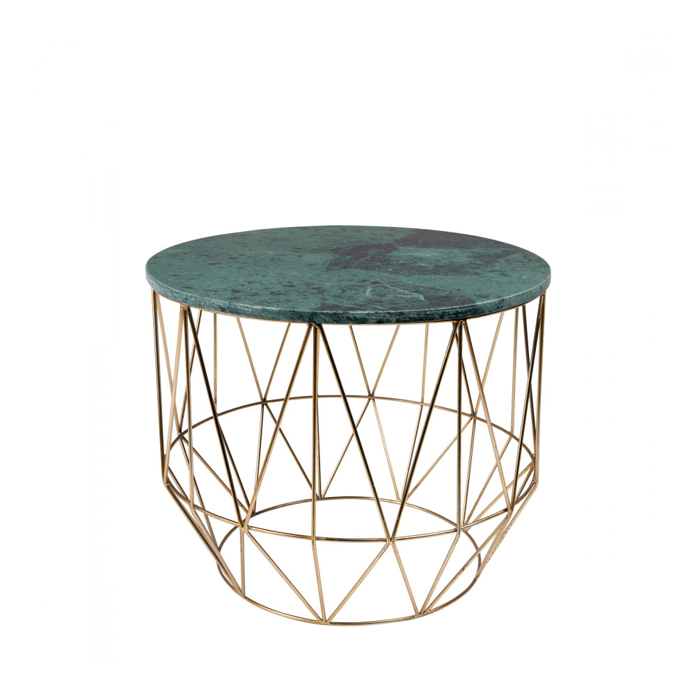 Table d'appoint marbre vert