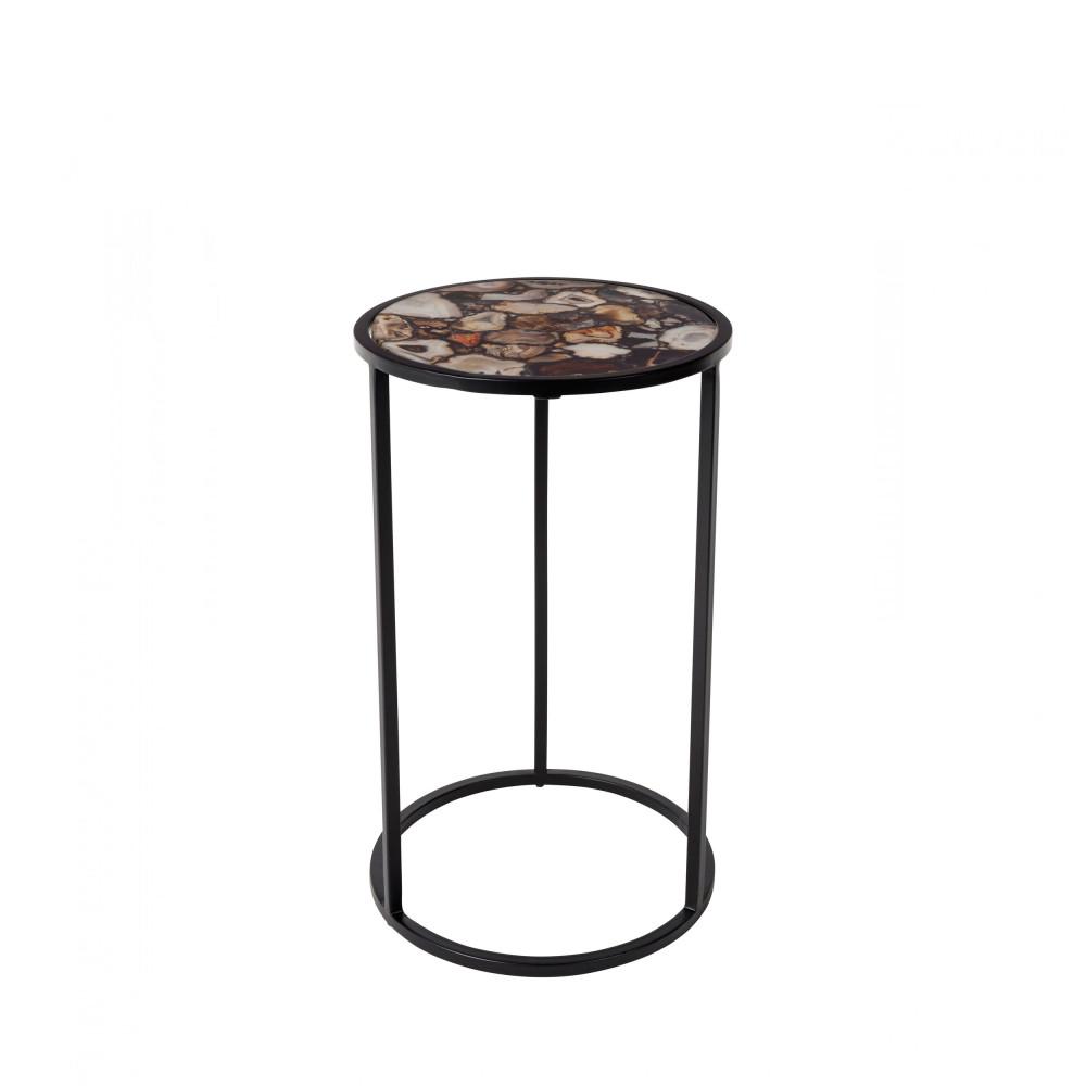 Table d'appoint en pierre noir