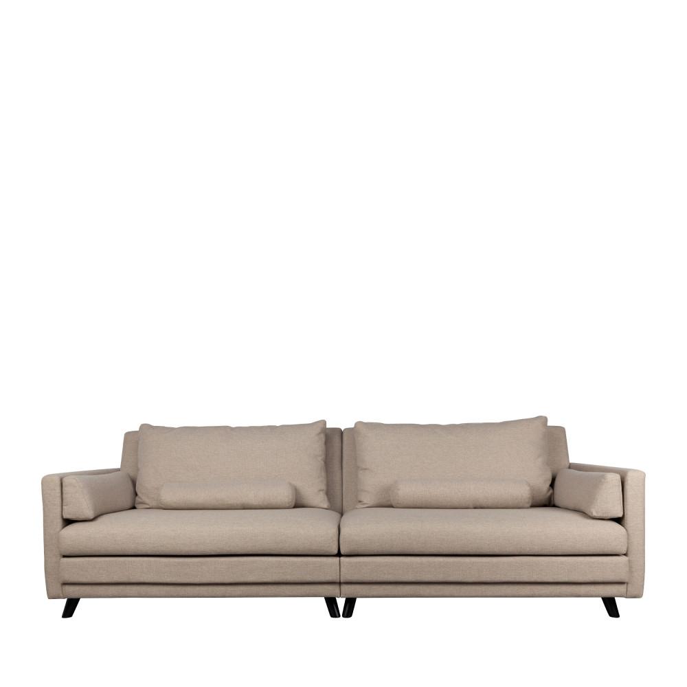 Canapé droit 5 places Beige Tissu Contemporain Confort