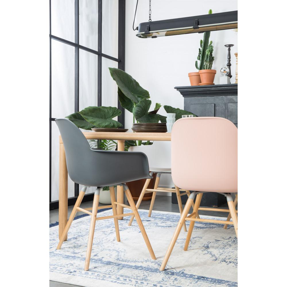 2 fauteuils de table en résine gris anthracite