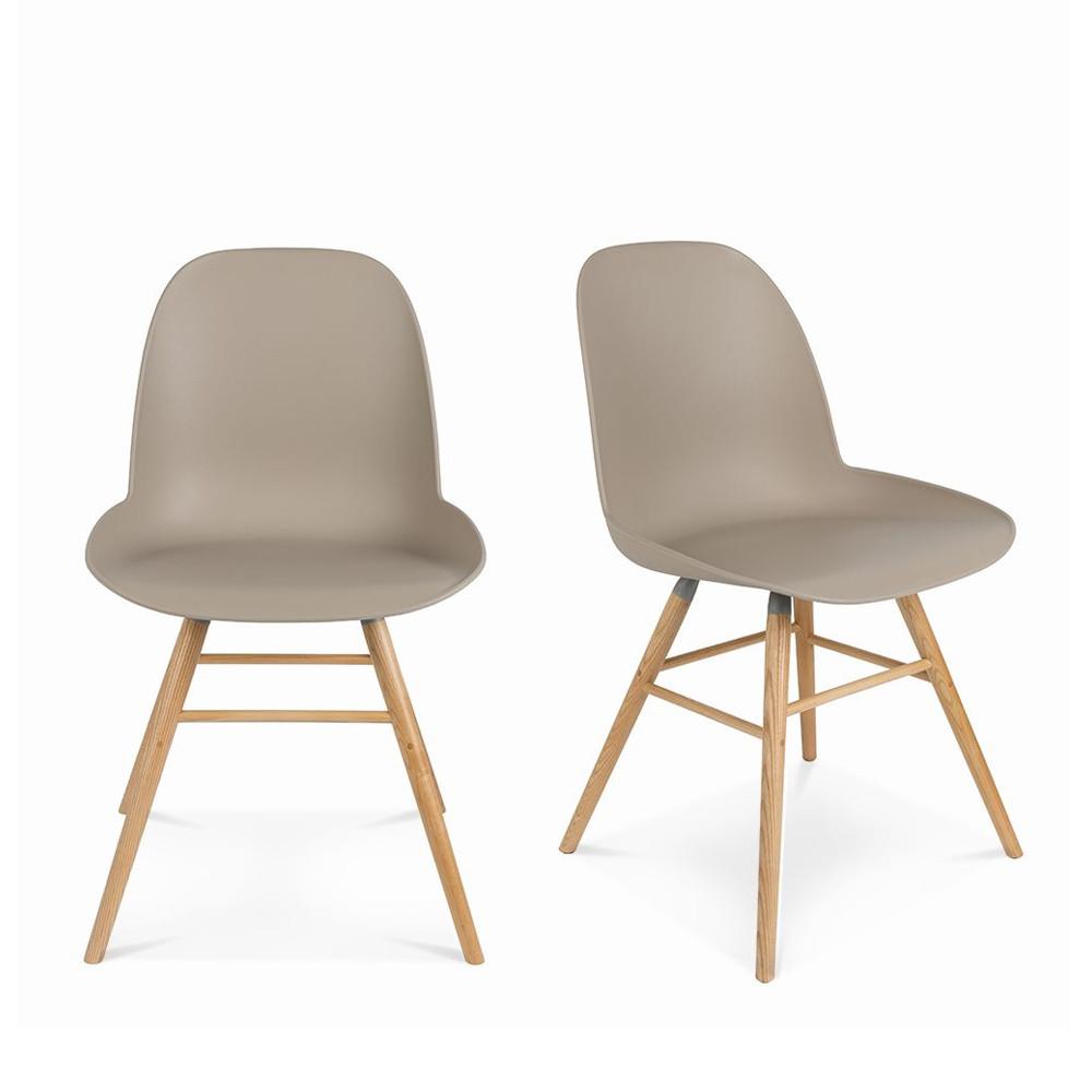 maison du monde 2 chaises résine et bois taupe