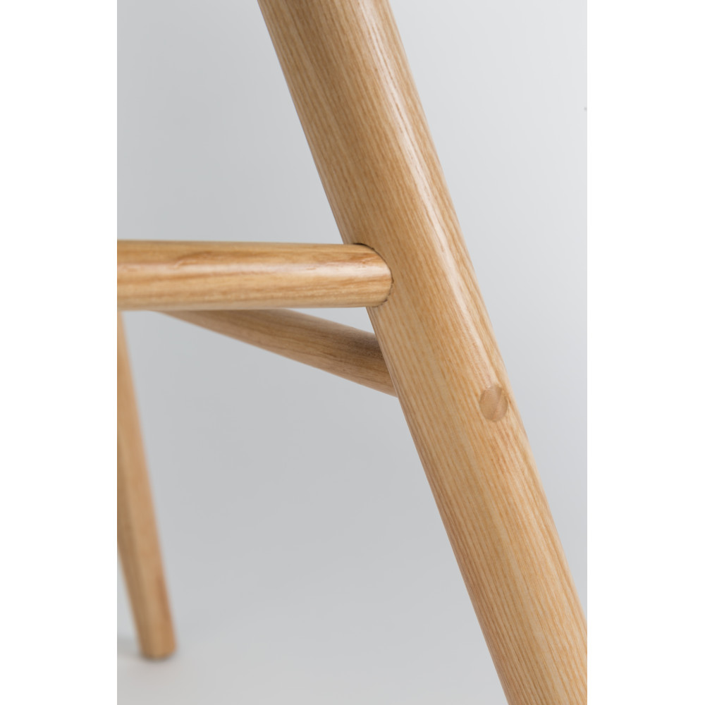 2 chaises résine et bois taupe