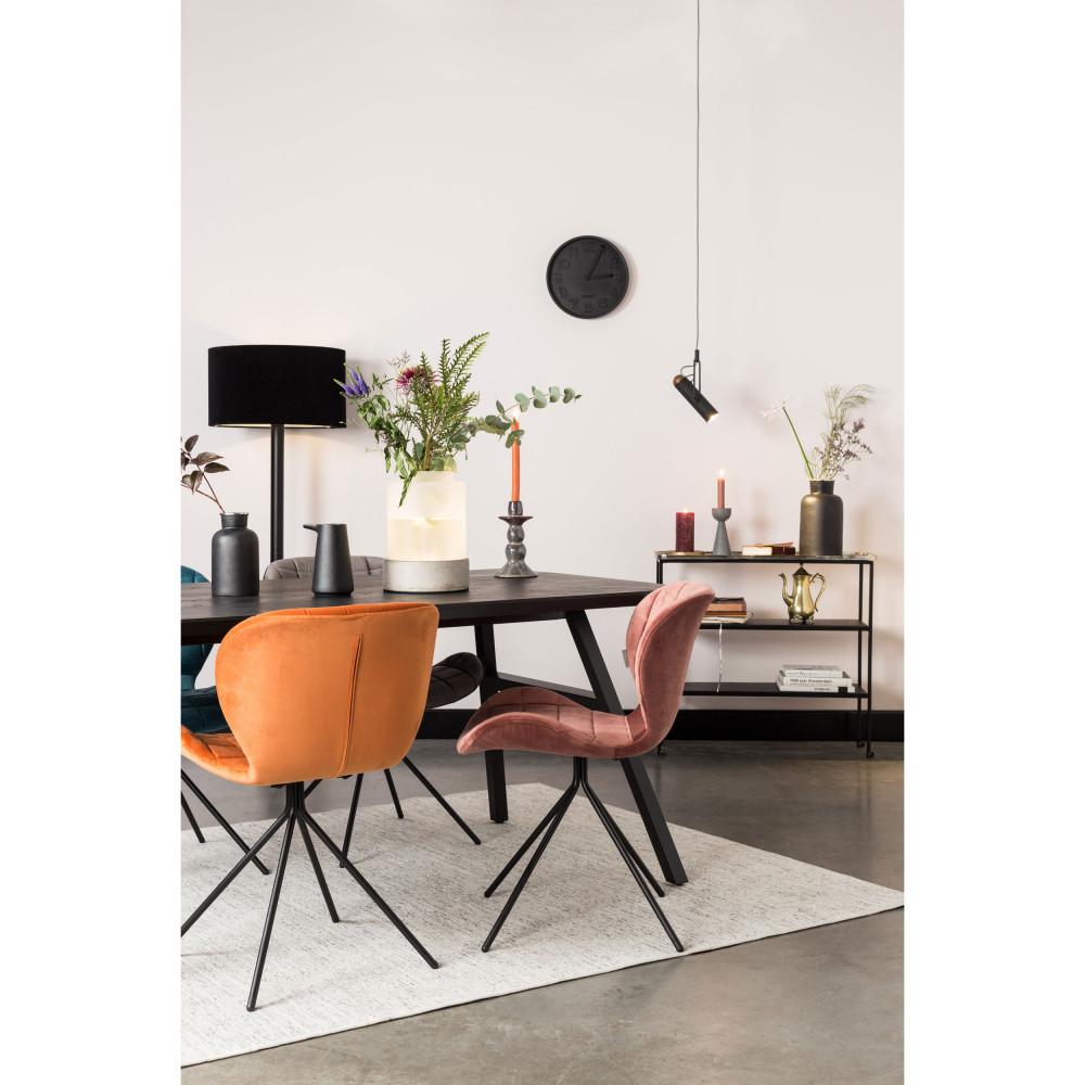 2 chaises velours orange