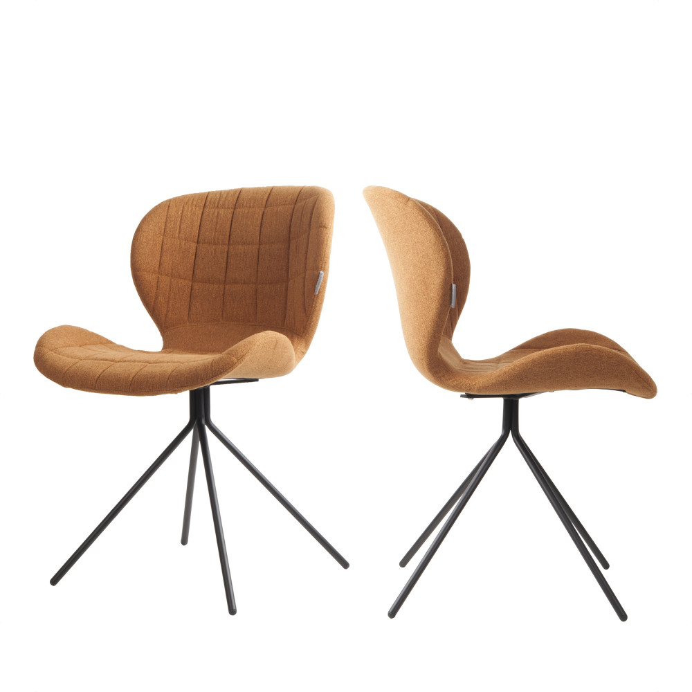 2 chaises design camel