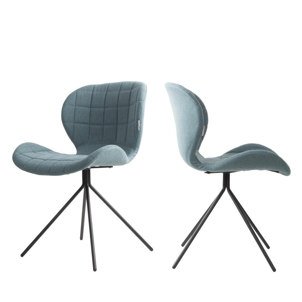 maison du monde 2 chaises design bleu