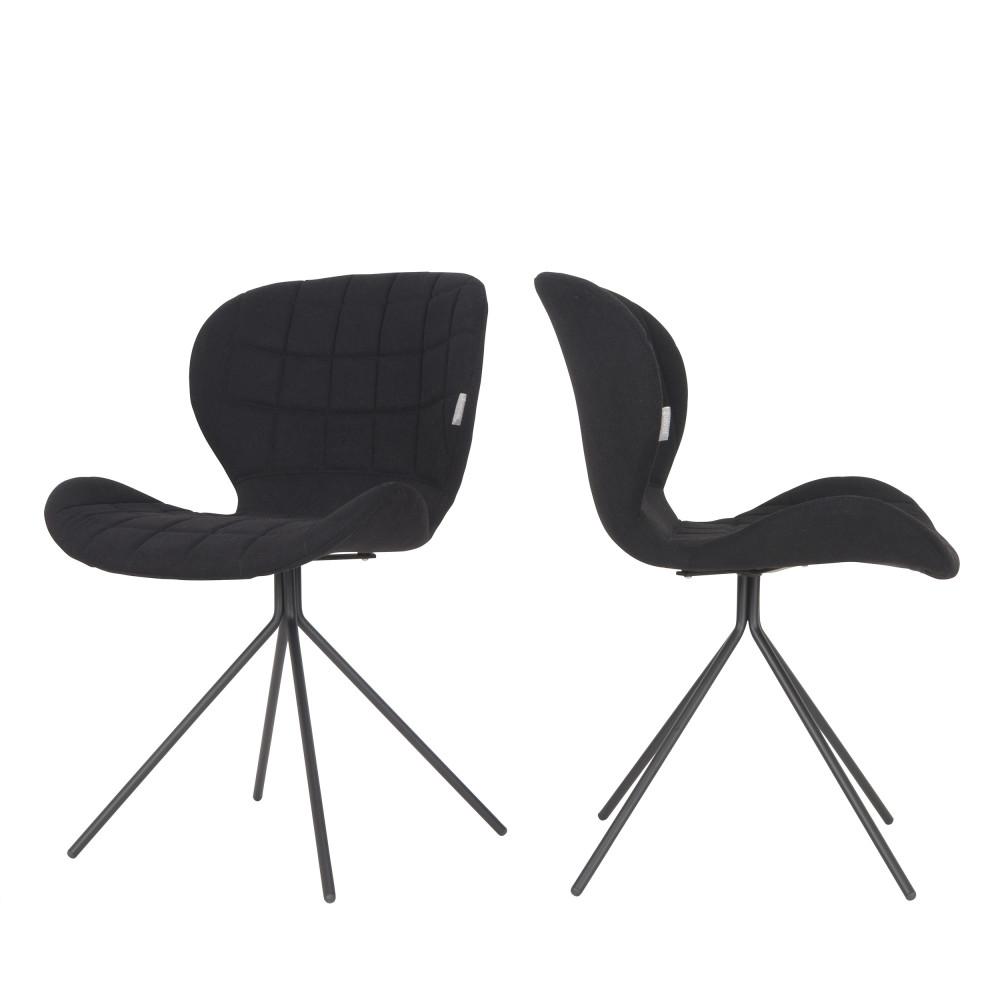 maison du monde 2 chaises design noir