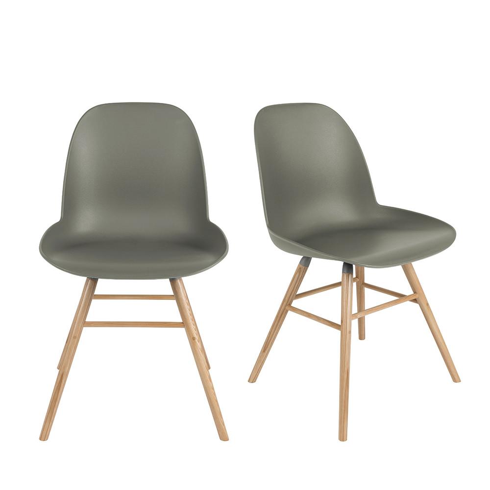 maison du monde 2 chaises résine et bois vert
