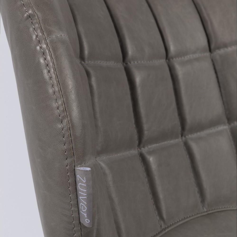 2 chaises design skin gris