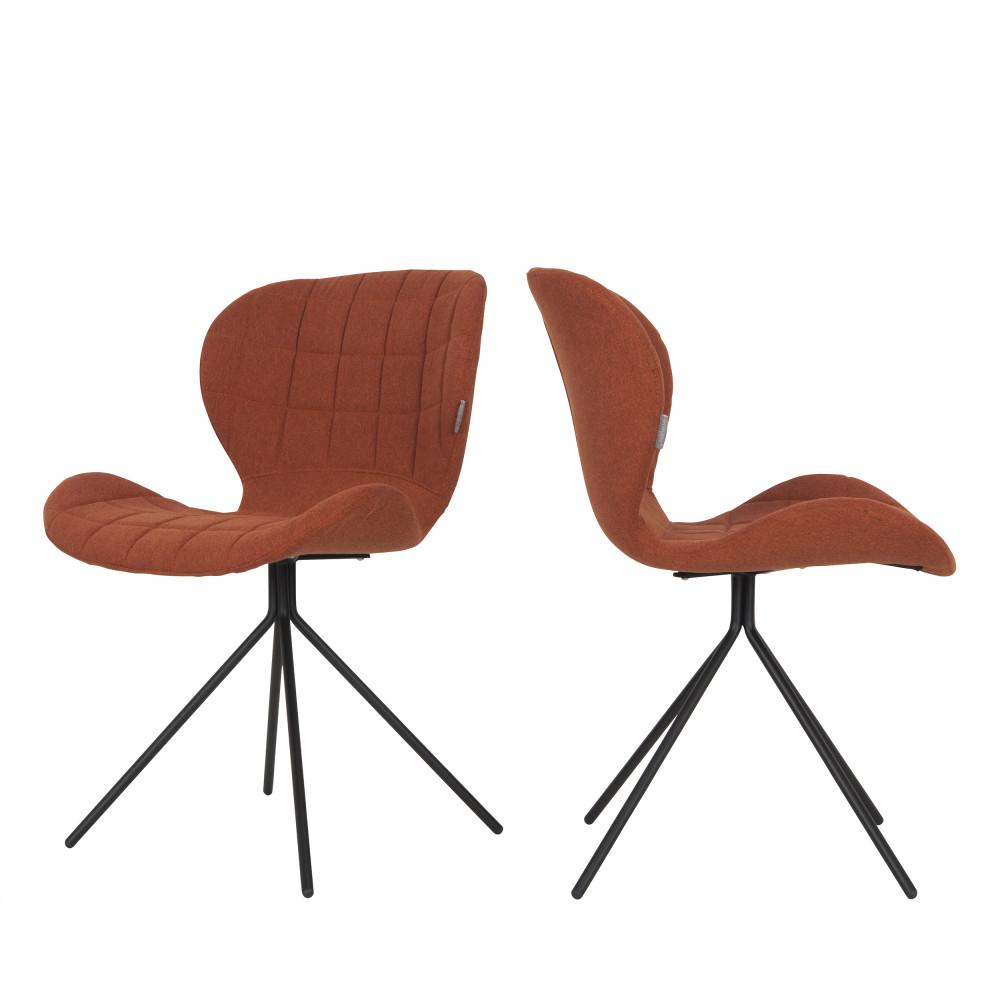 maison du monde 2 chaises design orange