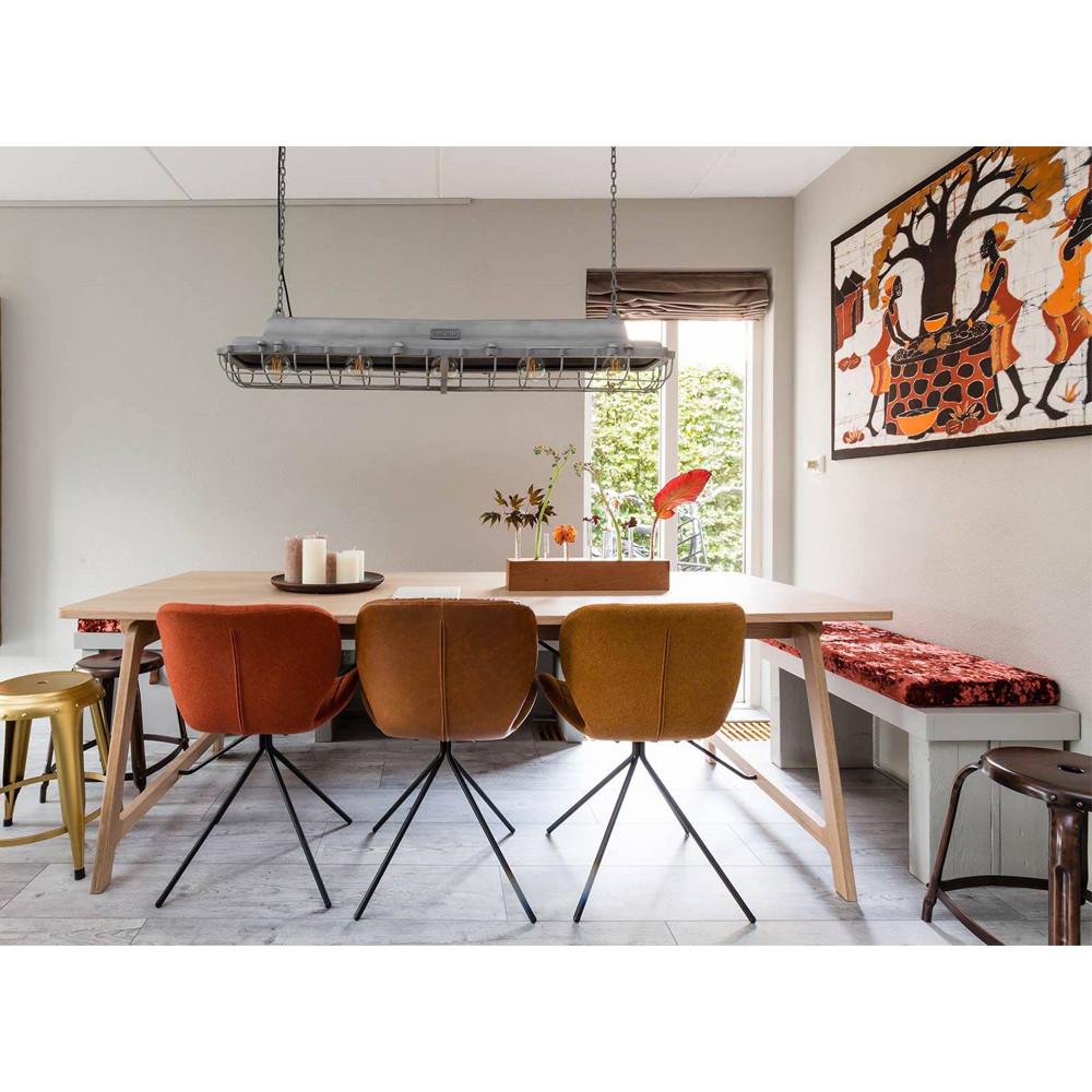 2 chaises design orange