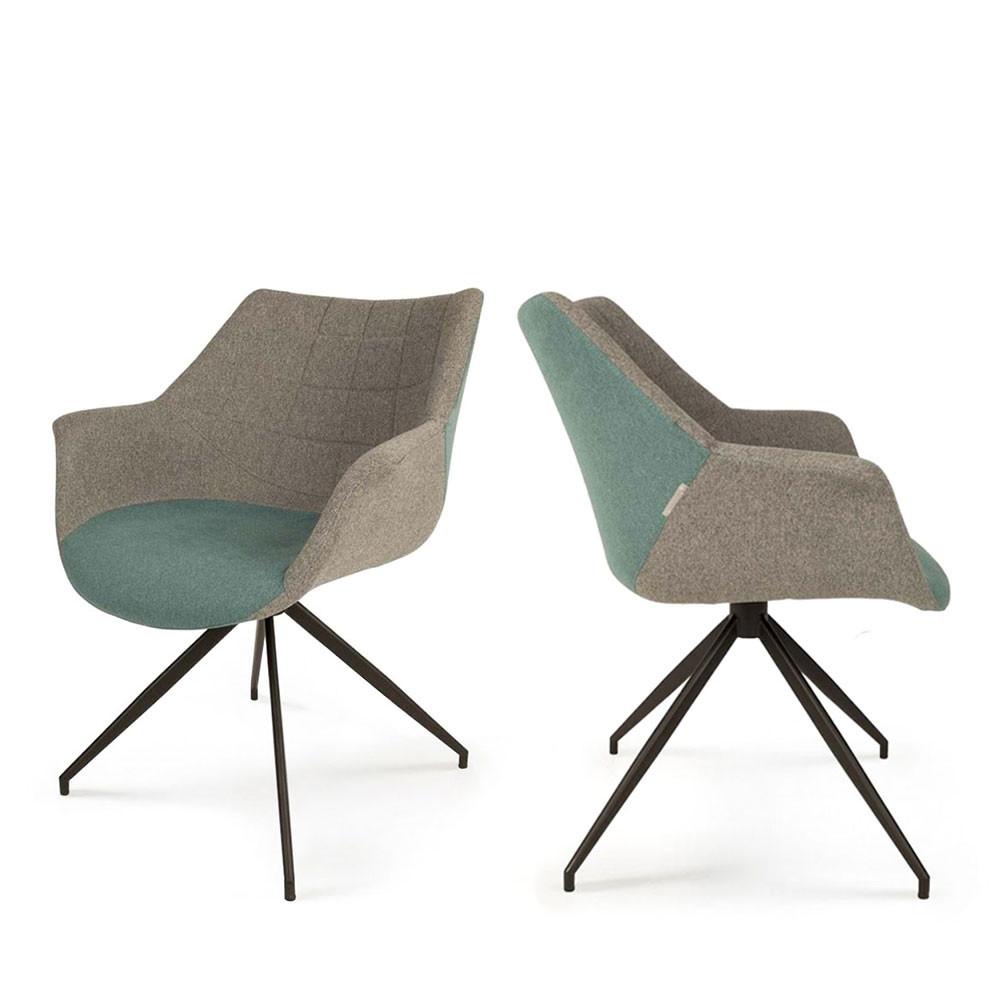 2 fauteuils de table design bleu