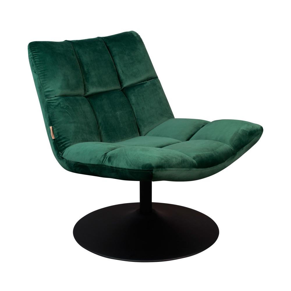 Fauteuil en velours pivotant lounge vert