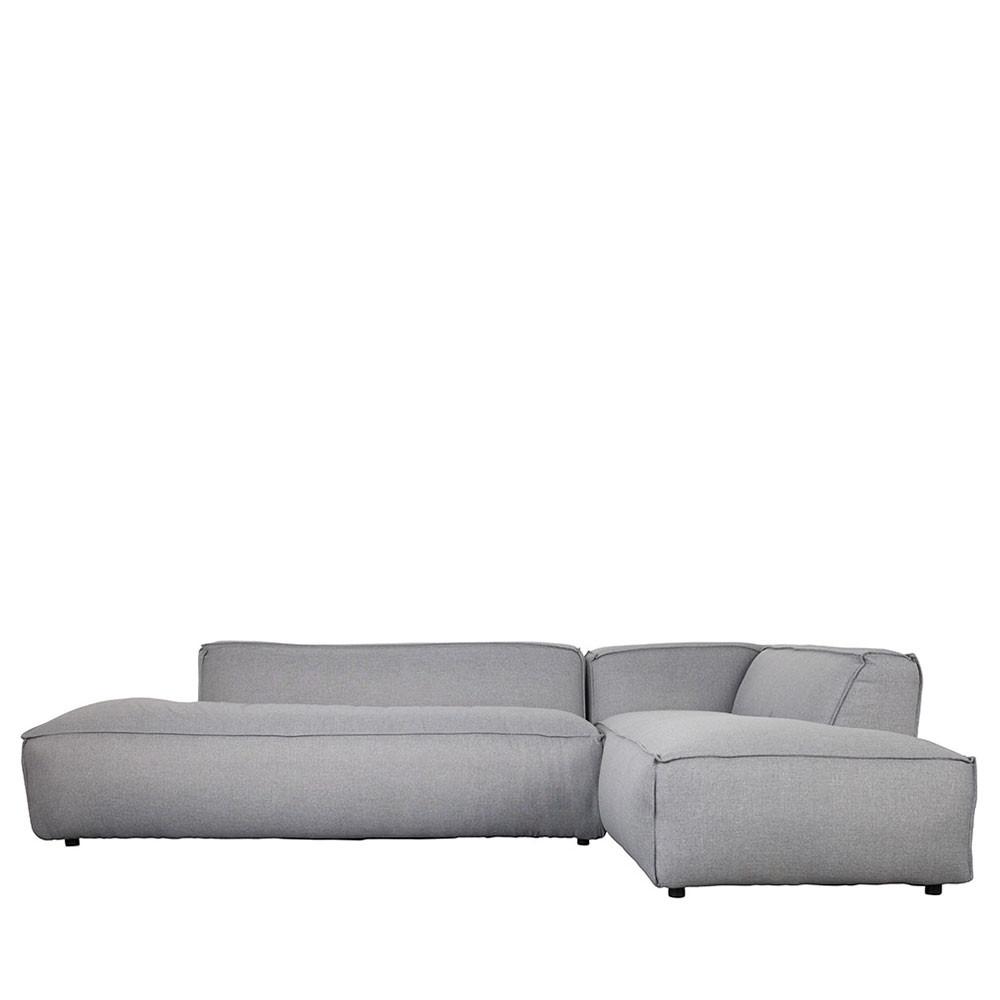 Canapé d'angle droit gris clair