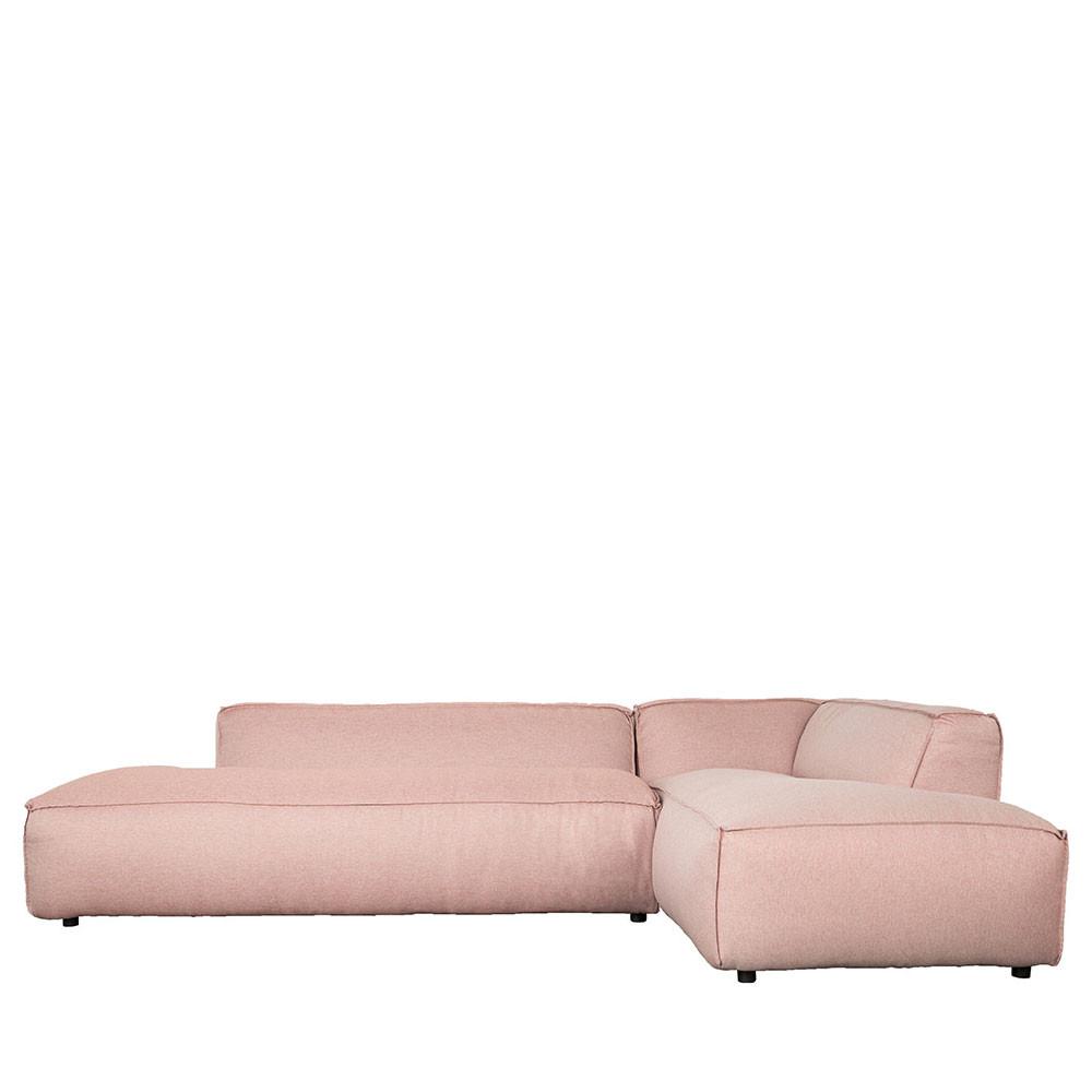 Canapé d'angle droit rose