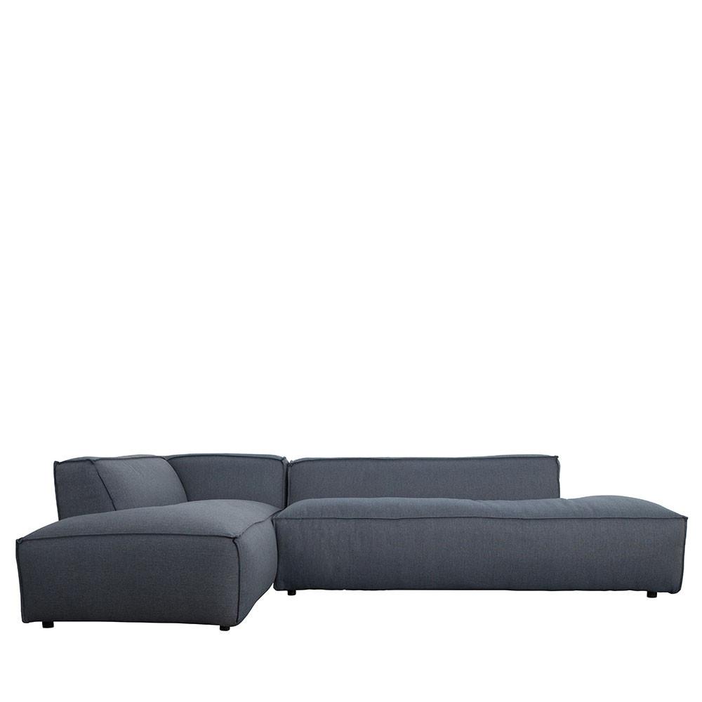 Canapé d'angle gauche Fat gris ardoise