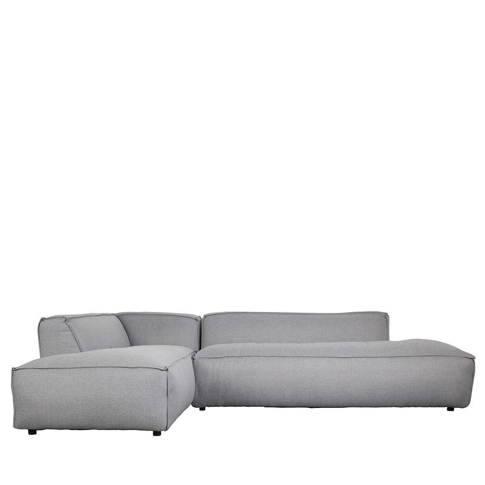 Canapé d'angle gauche gris clair