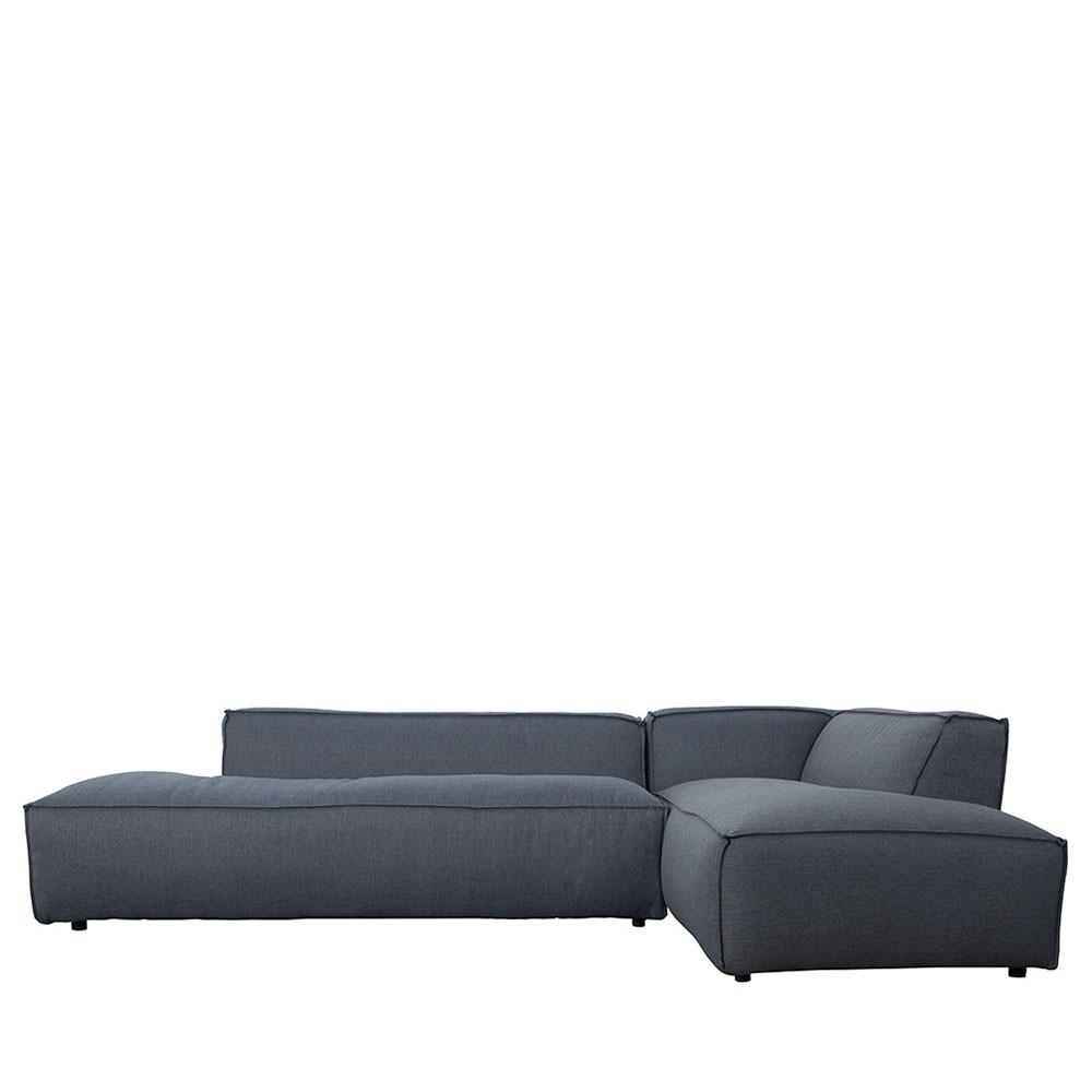 Canapé d'angle droit gris ardoise