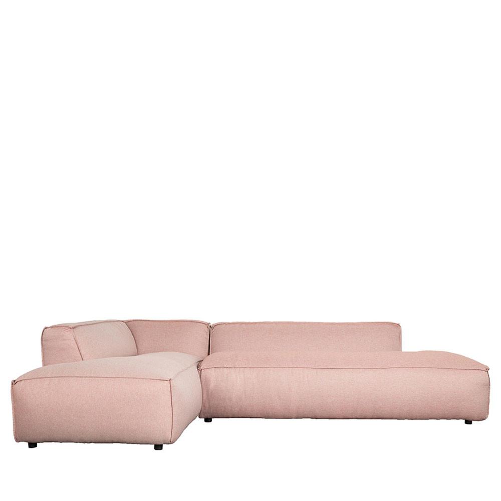 Canapé d'angle gauche rose