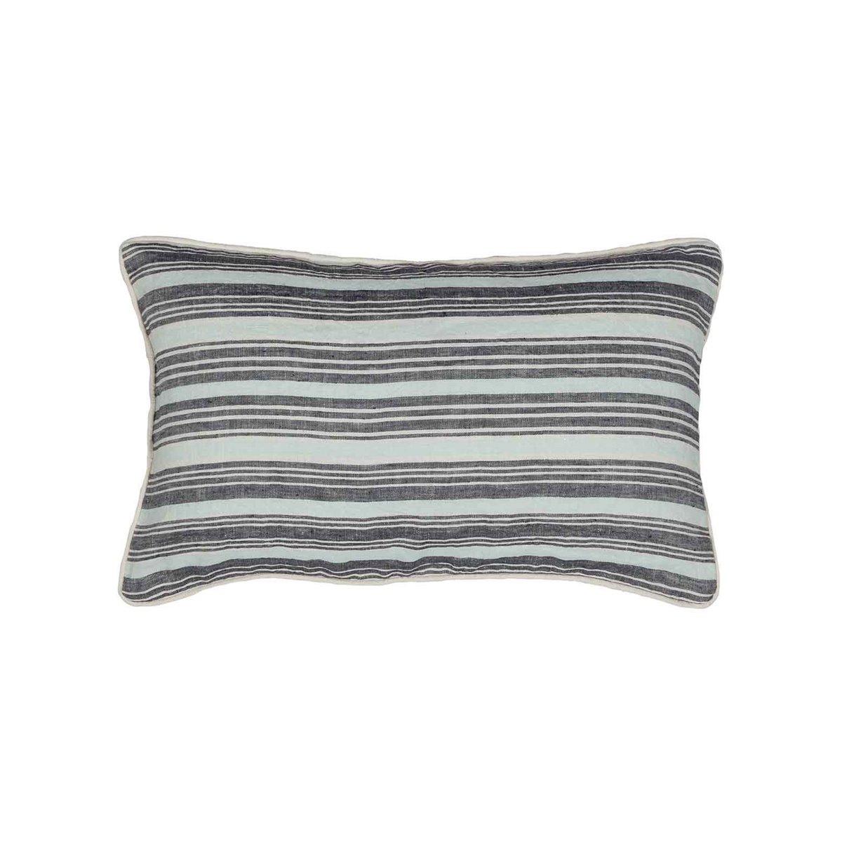Coussin en lin/coton lavé  Anthracite 30x50 cm