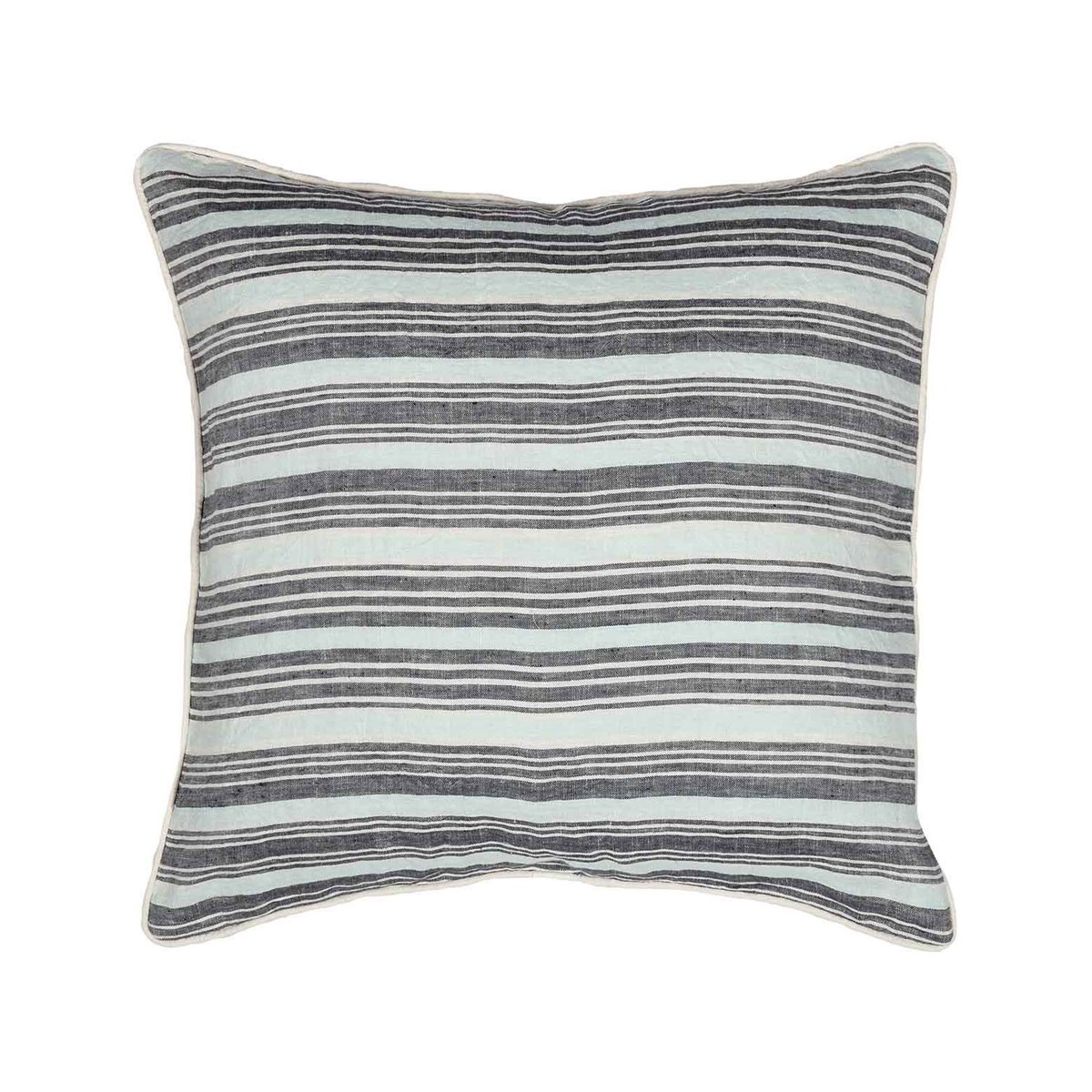 Coussin en lin/coton lavé  Anthracite 45x45 cm