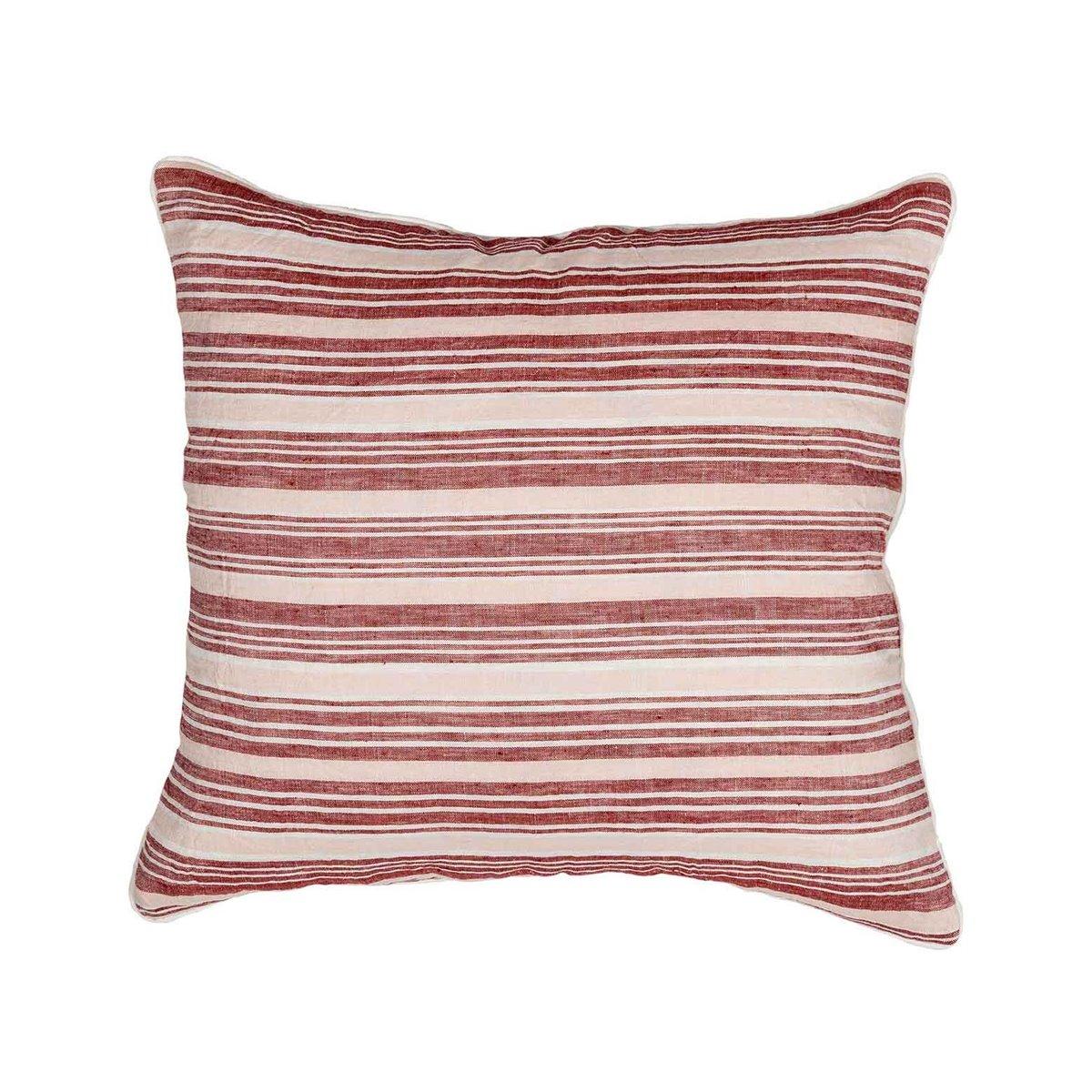 Coussin en lin/coton lavé  Cardinal 45x45 cm