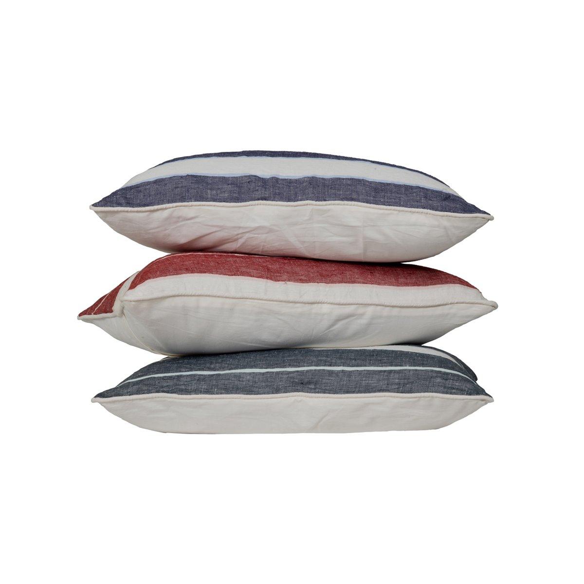 Coussin en lin/coton lavé  Indigo 30x50 cm