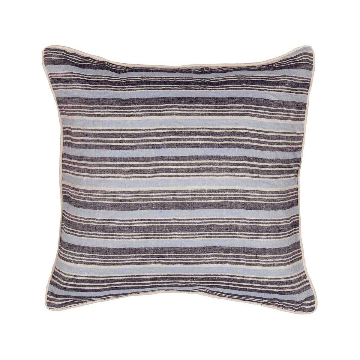 Coussin en lin/coton lavé  Indigo 45x45 cm