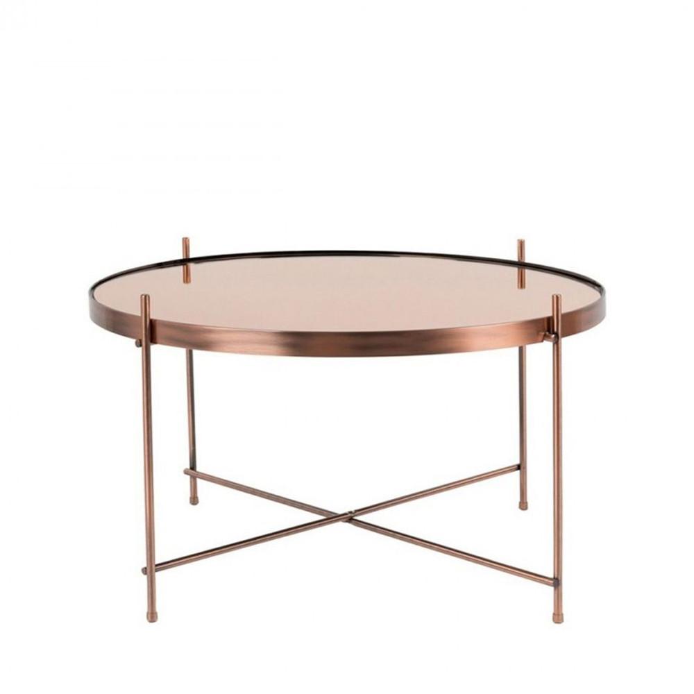 Table basse design ronde Large cuivre
