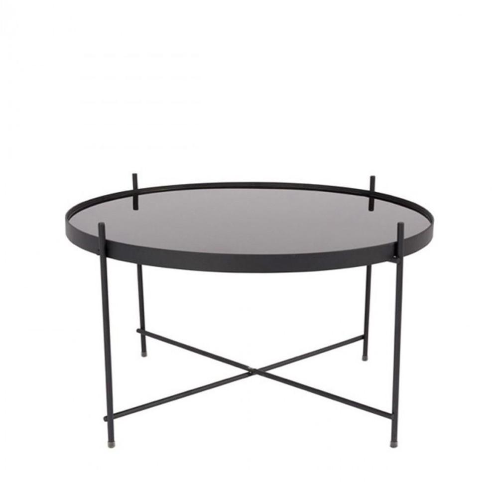 Table basse design ronde L noir