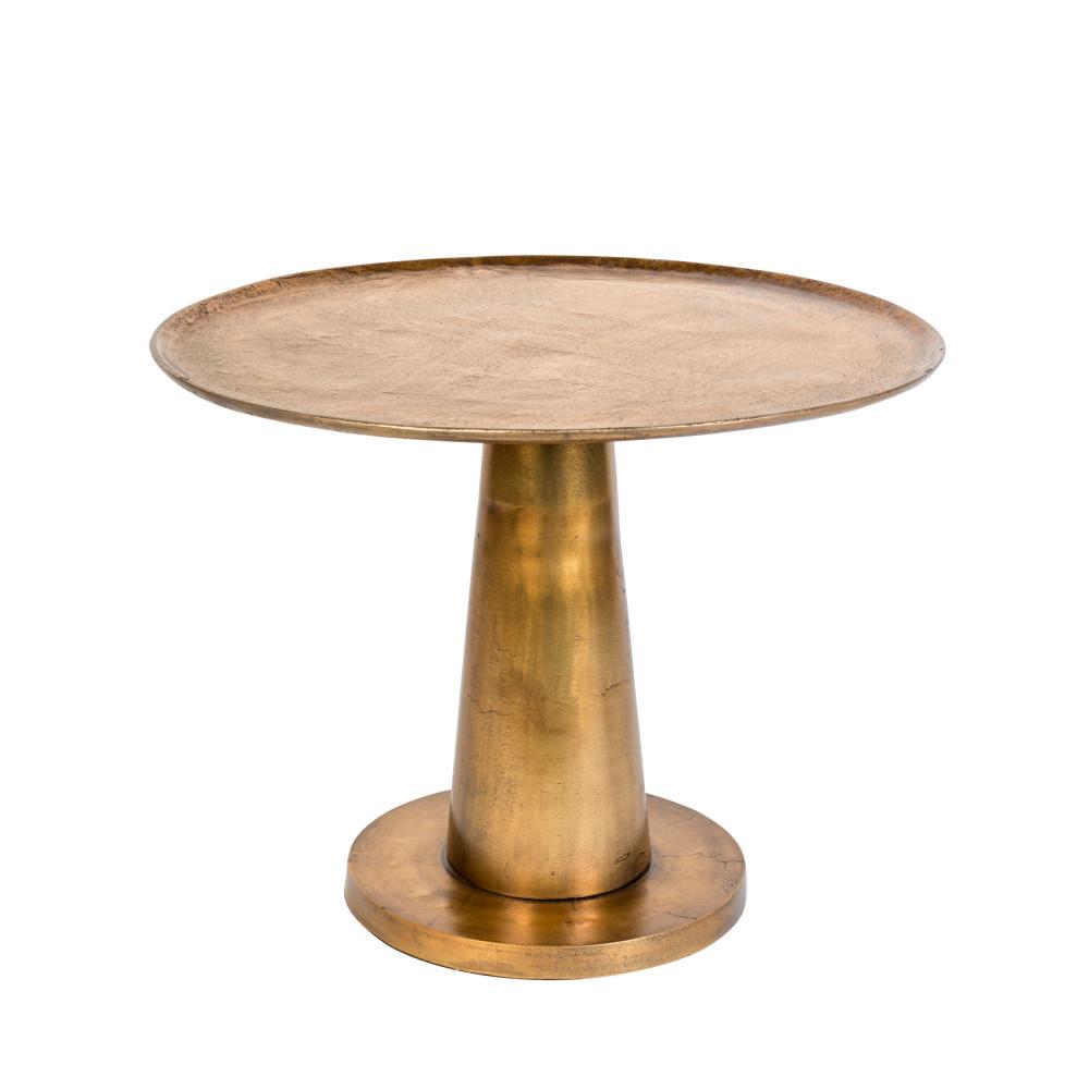 Table basse métal D63cm laiton