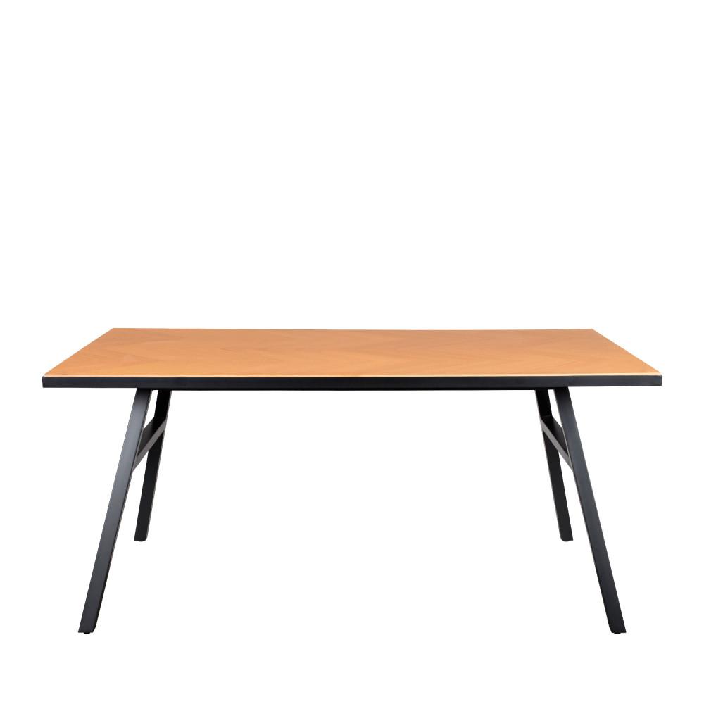 Table à manger effet bois 180x90cm chêne