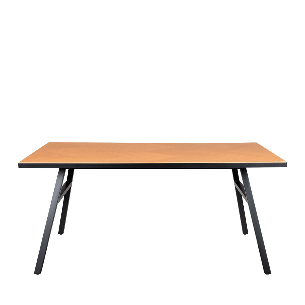 Table à manger effet bois 220x90cm chêne