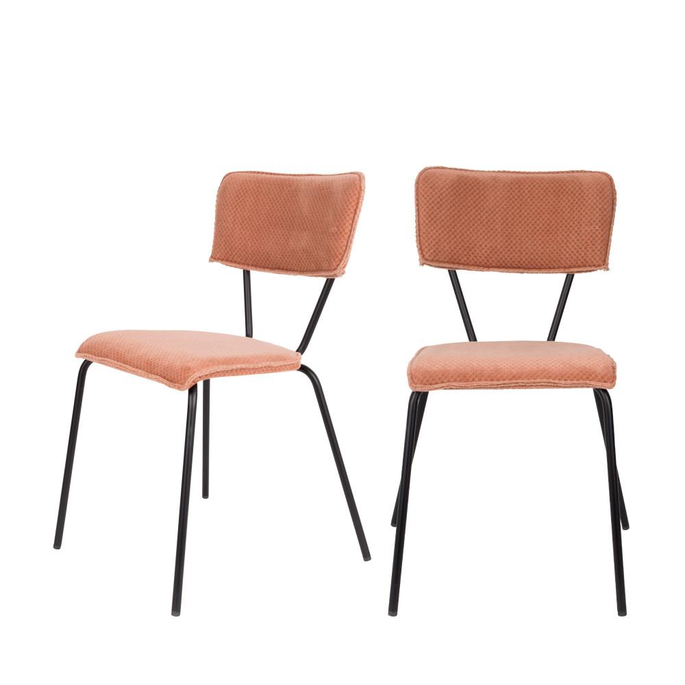 maison du monde 2 chaises rose