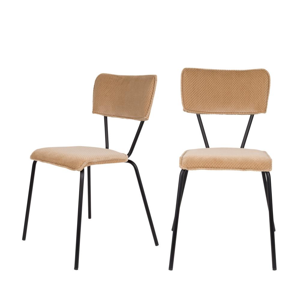 maison du monde 2 chaises beige