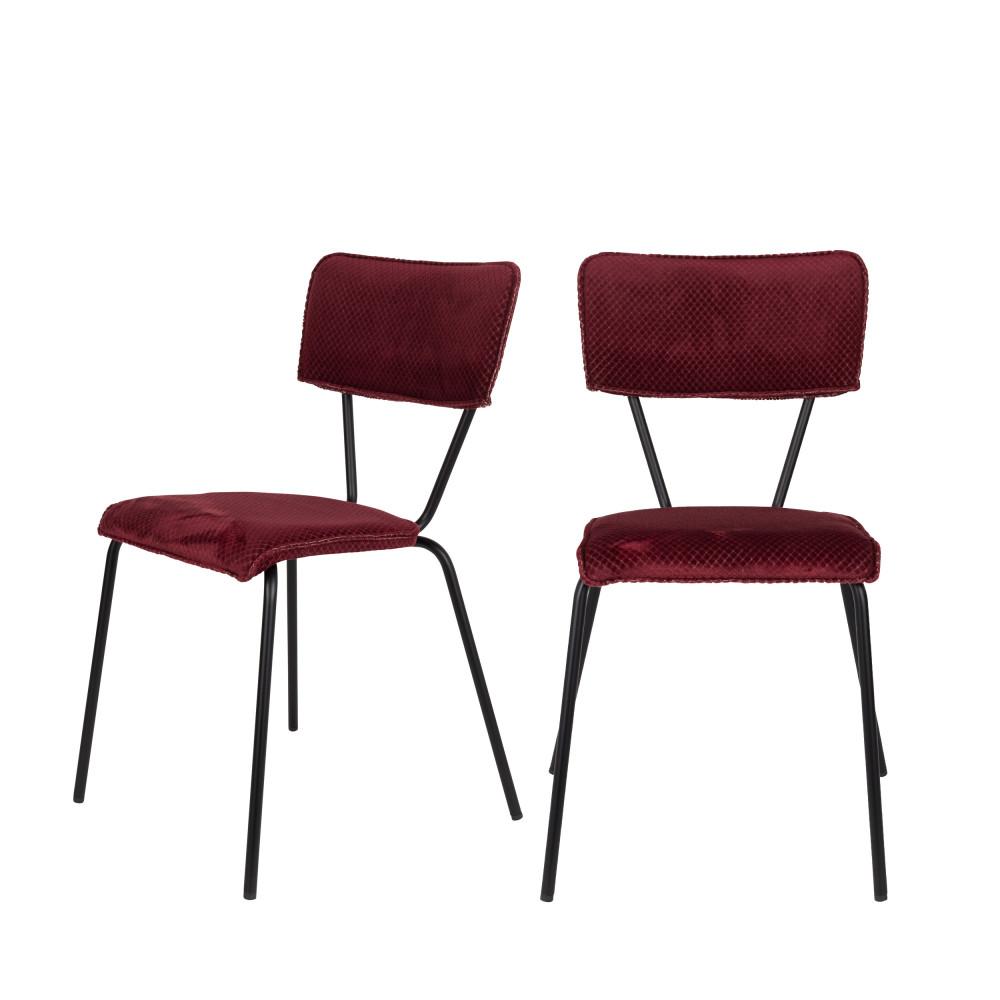 maison du monde 2 chaises bordeaux