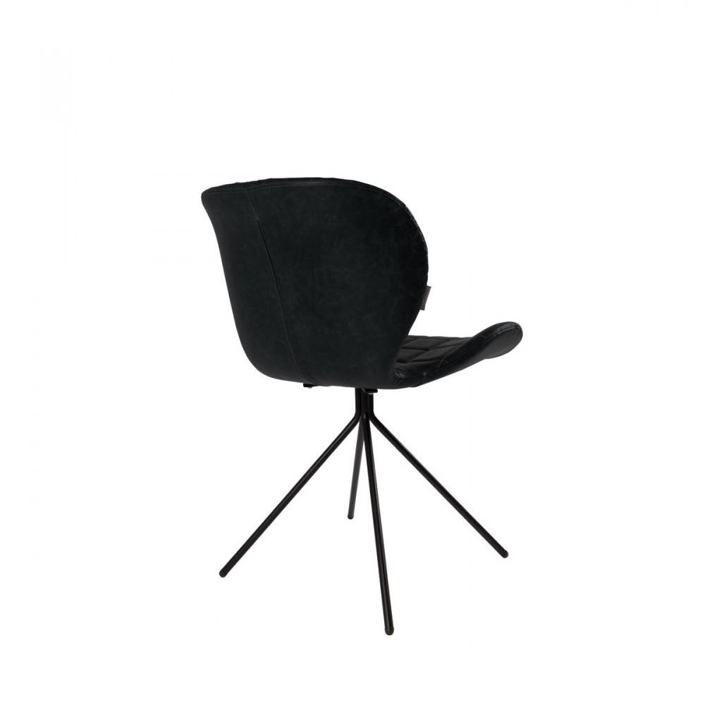 2 chaises design skin noir