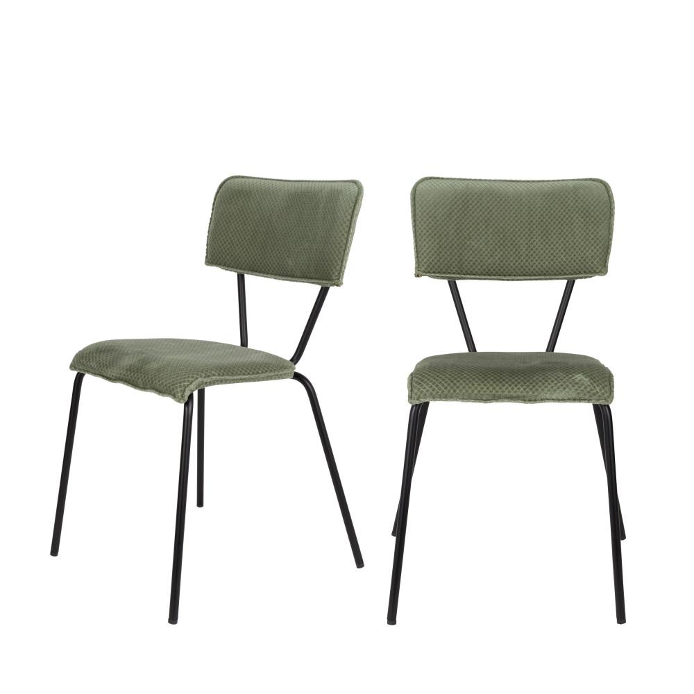 maison du monde 2 chaises vert