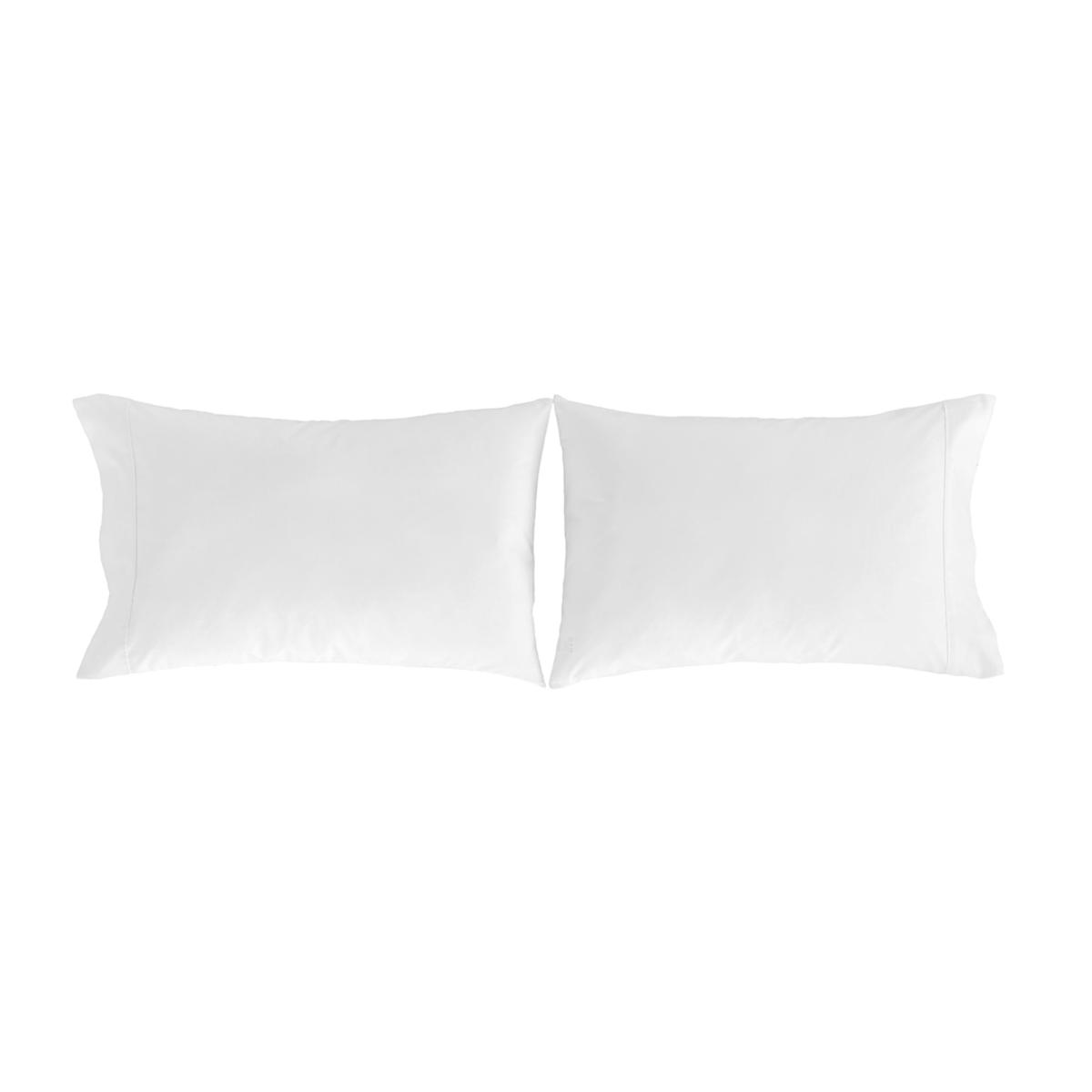 2 taies d'oreiller 50x75 blanc