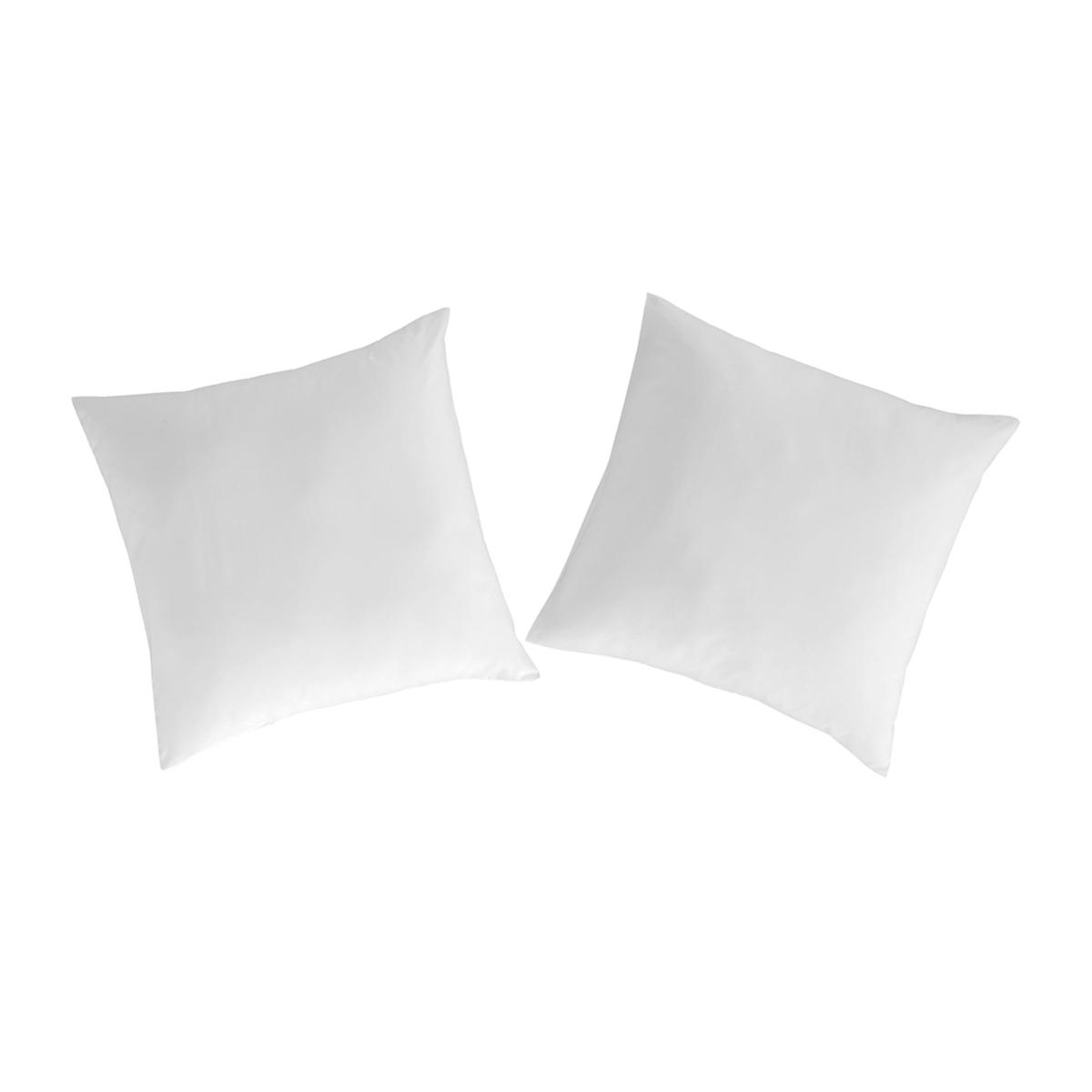 2 taies d'oreiller 80x80 blanc