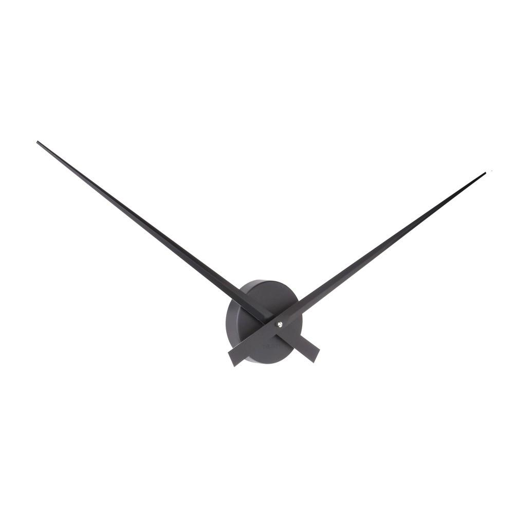 Horloge murale en aluminium noire D78